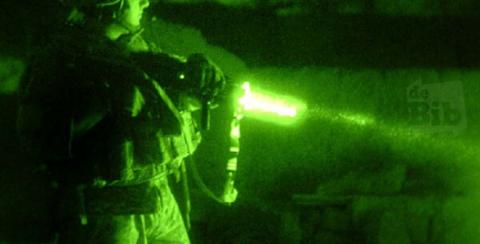 foto lasergeweer en logo